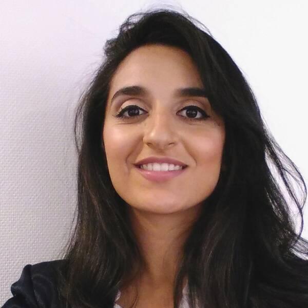 Farida Al-Abani, styrelsemedlem i Streetgäris. Arkivbild från Almedalen 2016.