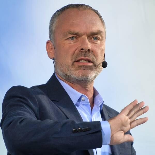 Liberalernas partiledare Jan Björklund håller sitt partiledatal i Almedalen