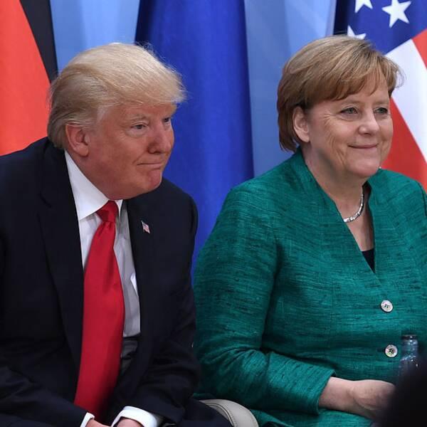 Donald Trump, Angela Merkel och Justin Trudeau