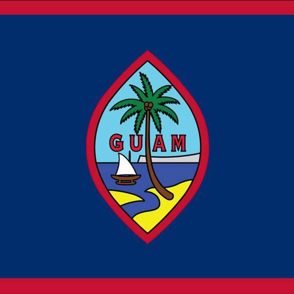 Guam har en egen lokal flagga men USA:s flagga är den officiella.