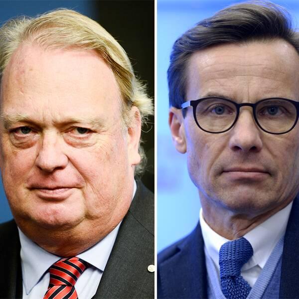 Till vänster Mikael Odenberg, i mitten Ulf Kristersson och till höger Carl Bildt.