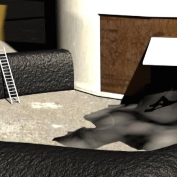 Animerad bild tjärolyckan SSAb hösten 2013