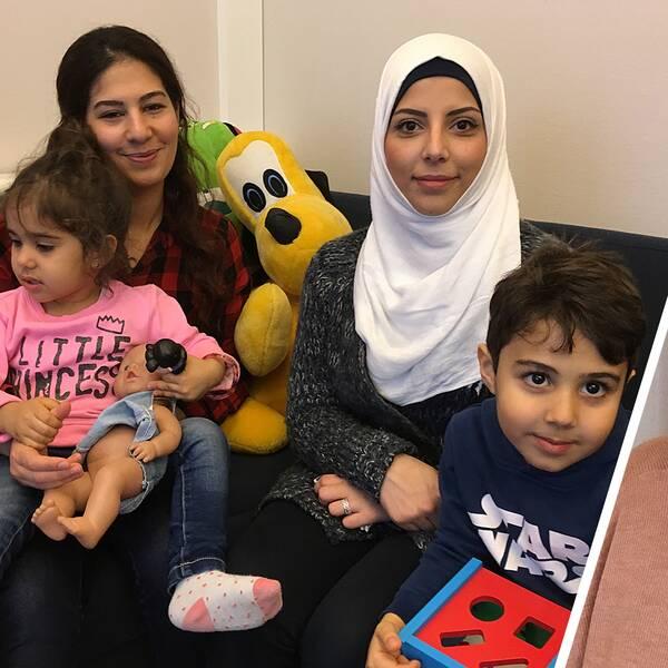 På öppna asylförskolan i Kramfors trivs mammor och barn. Det berättar Karin Nordén som arbetar där.