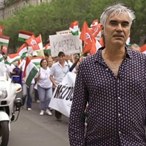 Kristofer Lundström på plats i Ungern.