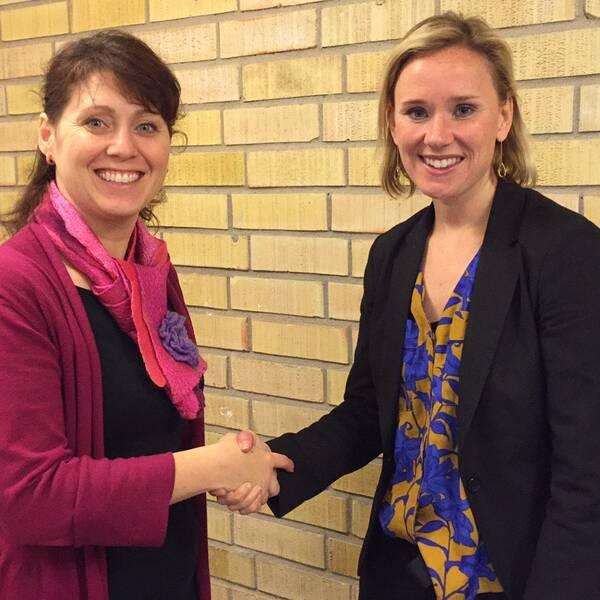 Vivianne Macdisi (S) och Caroline Hoffstedt (S) är nöjda med satsningen.