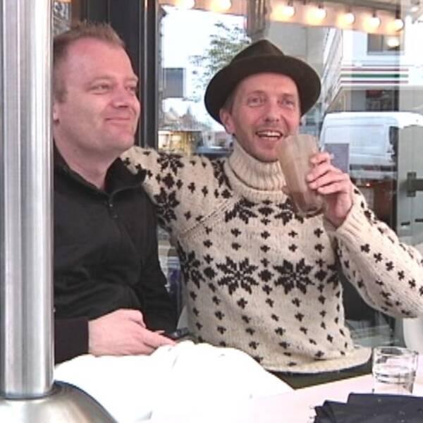 Cafégäster i Köpenhamn