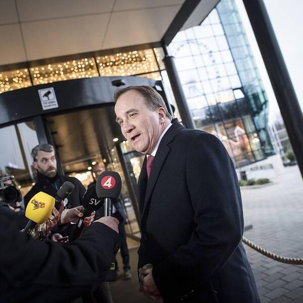 Statsminister Stefan Löfven (S) anländer till Göteborg inför det sociala EU-toppmötet. Foto Björn Larsson