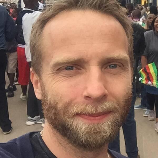 Johan Ripås och firande i Harare