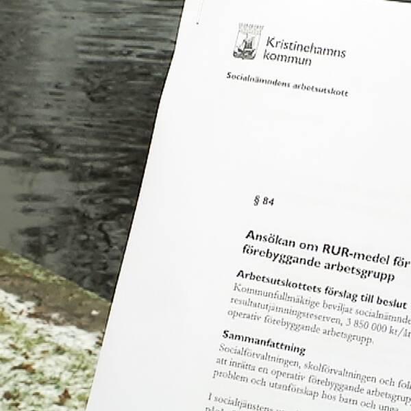 Kristinehamns kommun satsar nu 7,7 miljoner fördelat på två år på förebyggande arbete med inriktning på unga och deras föräldrar