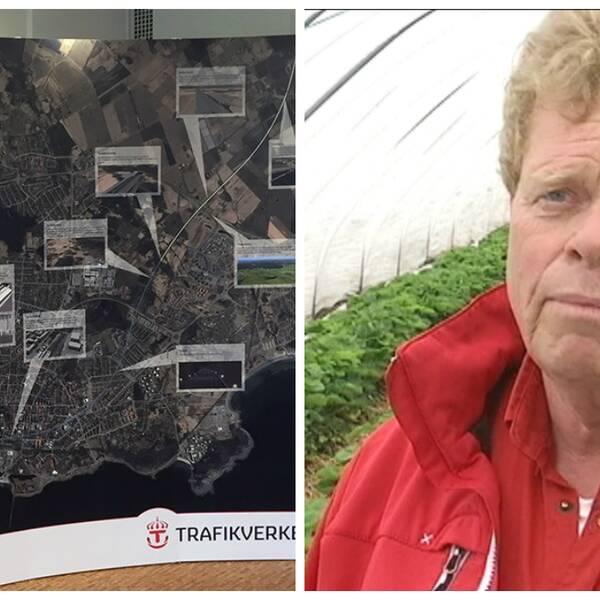 Kenneth Andersson, vd Vareborgs bärodling vill inte att Trafikverket gör intrång på deras granodlingar.