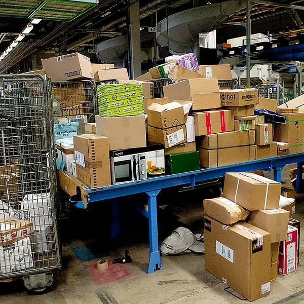 Julpaket postterminal julgran