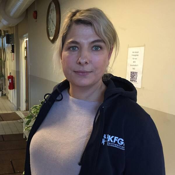 Carola Ivarsson, föreståndare på Vilans fritidsgård.