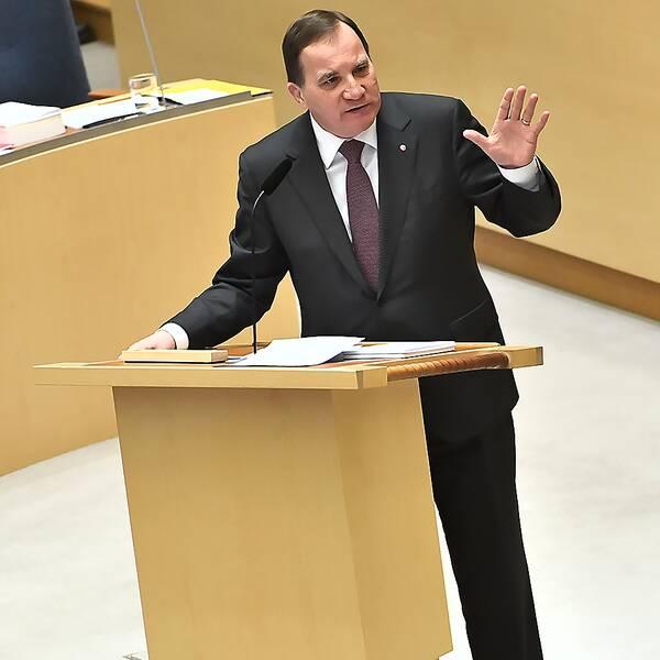 Det handlade mycket om kriminalitet och gängvåld i 2018 års första partiledardebatt i riksdagen.