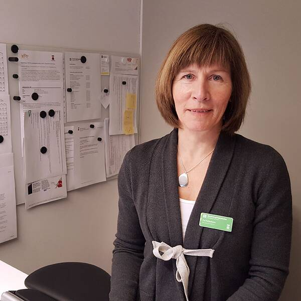 Porträtt på Drottninghögsskolans biträdande rektor Pia Hallenheim