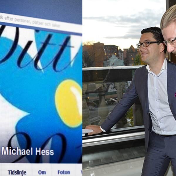 Michael Hess. Till höger Linus Bylund som anser att han är felciterad av Blekinge Läns Tidning.