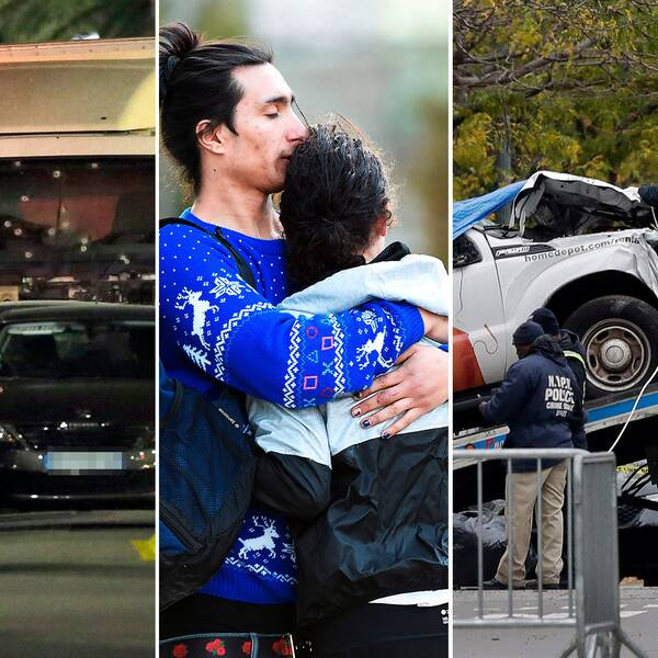Bilder från lastbilsattackerna i Nice 2016, Toronto 2018, New York 2017 och Stockholm 2017.