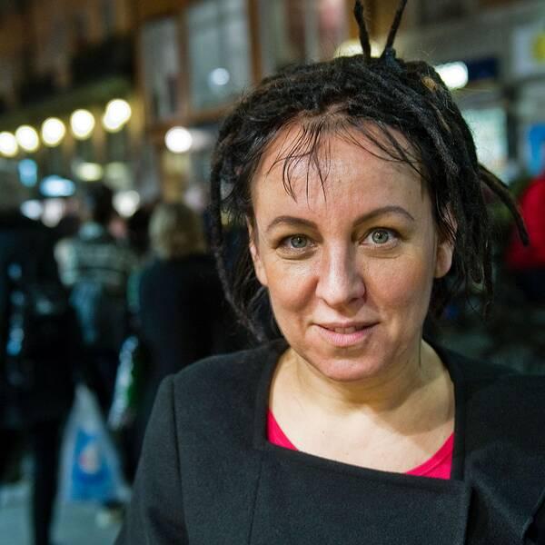 Polska författaren Olga Tokarczuk i Stockholm.
