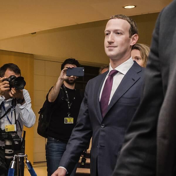 Facebooks vd Mark Zuckerberg.