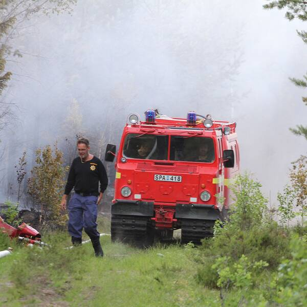 En bandvagn från räddningstjänsten.