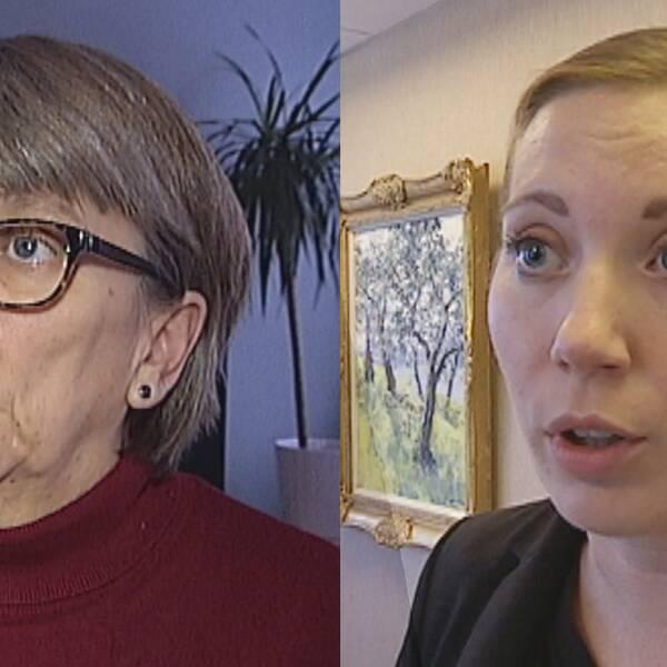 Marianne Andersson (C) och Maria Antropowa Ehrnfelt (M)