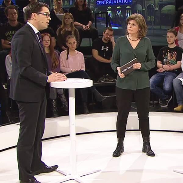 Jimmie Åkesson (SD) mötte sin gamle lärare Per Nilsson i Debatt.
