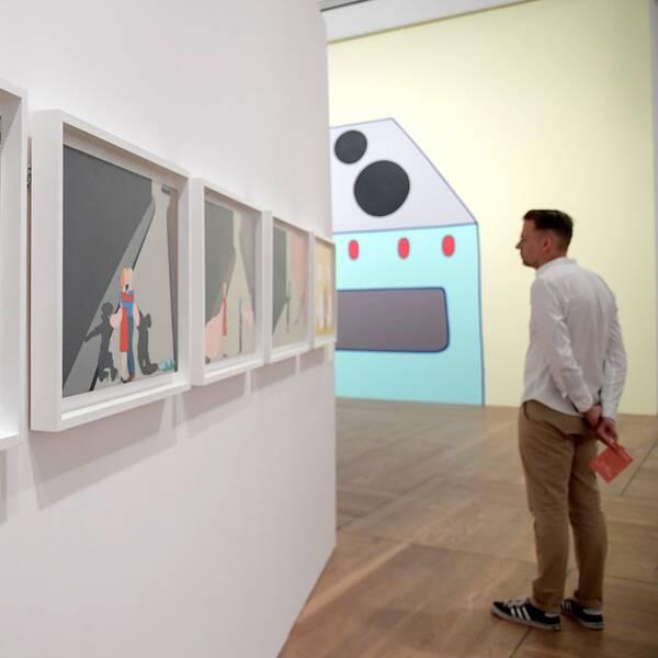 Marie-Louise Ekmans konst visas upp på Moderna museet i Stockholm 2017.