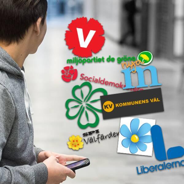 Mobilförbud i skolan eller inte? Så tycker ditt parti i Hylte kommun.