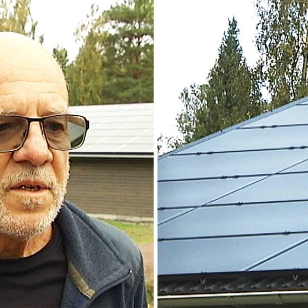 Sune Nyqvist på Hammarö byggde en liten lada till sin islandshäst och satte solcellspaneler på taket