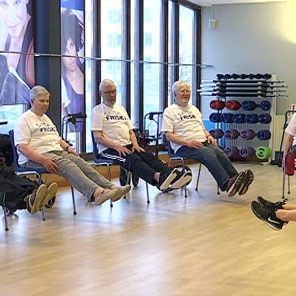 Satsa friskt, äldregympa, träning för äldre