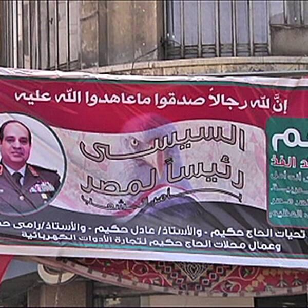 Den tidigare arméchefen al-Sisi väntas bli nästa president i Egypten.