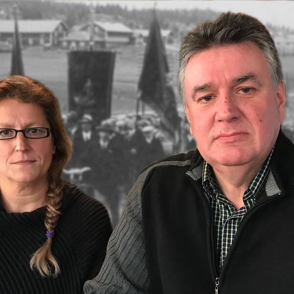 Anna Proos (M) och Thomas Näsholm (S)