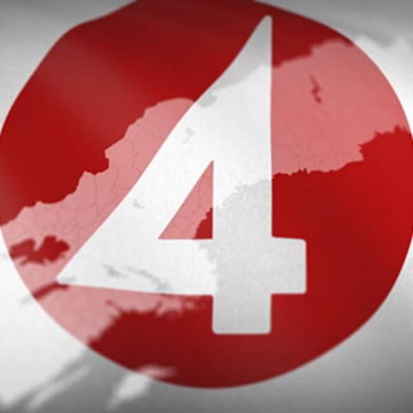 TV4-logga och Sverigekarta