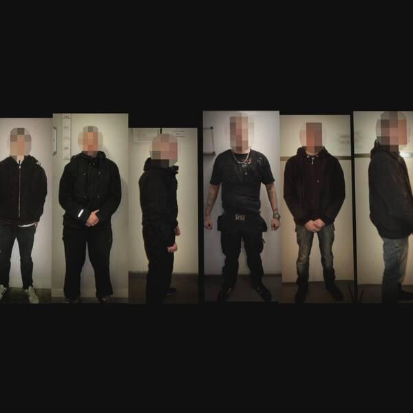 Flera av de som greps efter attacken mot den antirasistiska demonstrationen i Kärrtorp kan knytas till olika våldsdåd.