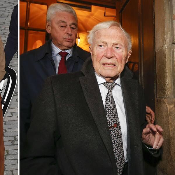 """Sture Allén har kallat tidigare varningar om Kulturprofilen för """"vaga"""". På bilden syns Jean-Claude Arnault, som nu dömts till fängelse för två våldtäkter, samt Bo Ralph och Sture Allén i Svenska Akademien. Bo Ralph blev ledamot i Svenska Akademien 1999."""