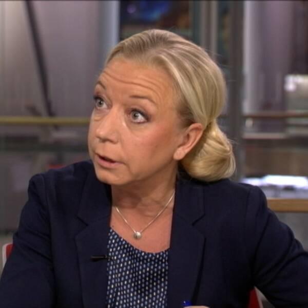 VT:s politikreporter Elisabeth Marmorstein i Morgonstudion.