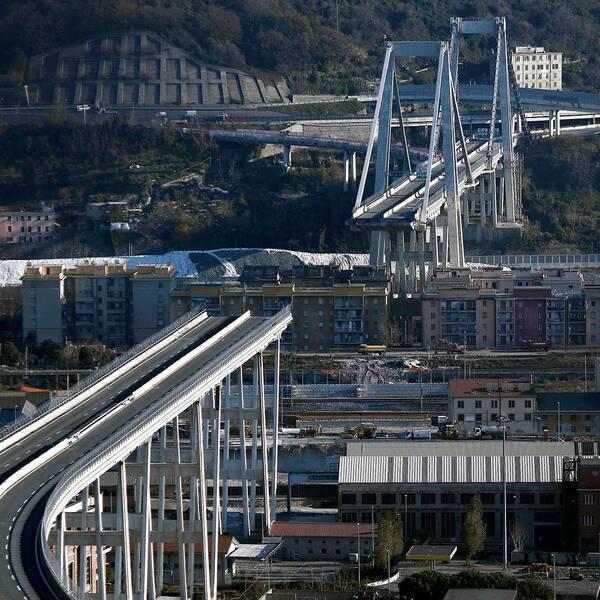 Fyra månader efter kollapsen – Morandibron i Genua rasade en sommardag i augusti och 43 människor omkom.