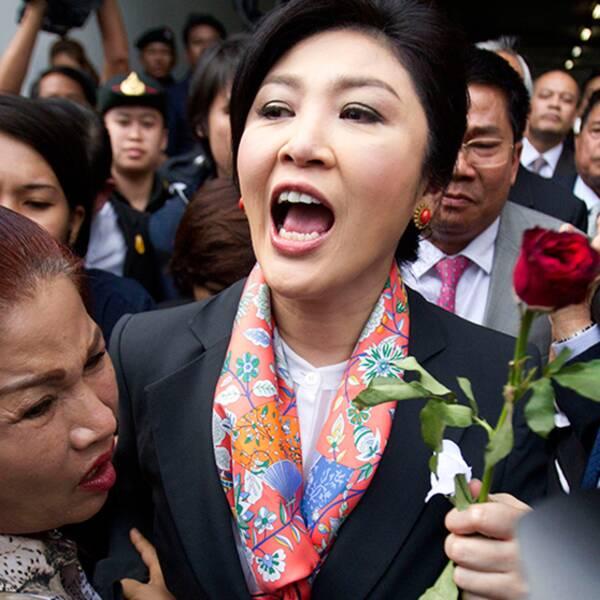 Thailands före detta premiärminister Yingluck Shinawatra.