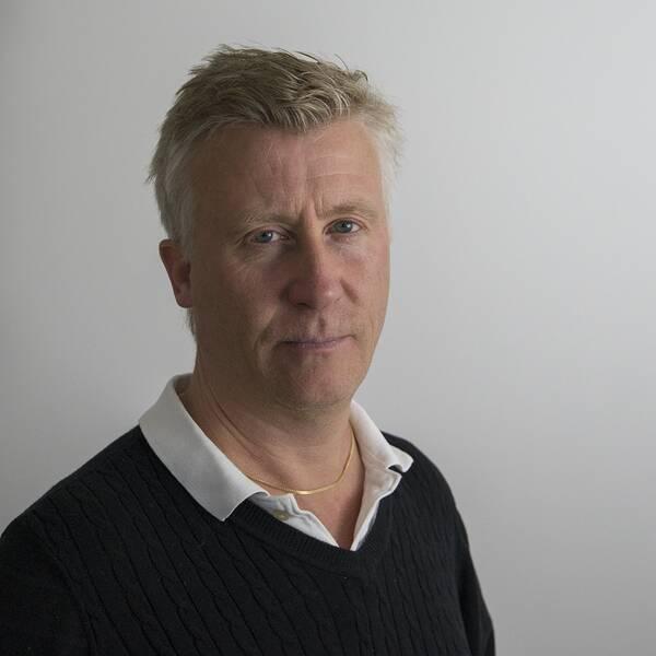 SVT:s reporter Patric Sellén.