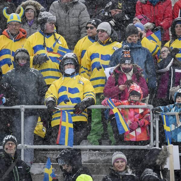 Publik under skidskytte-VM i Östersund.