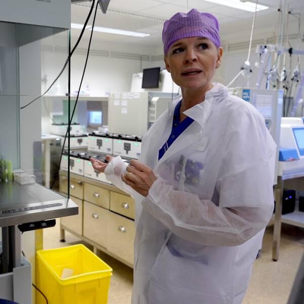 Anne-Charlotte Dahl, avdelningschef på reproduktionscentrum på Akademiska sjukhuset i Uppsala.
