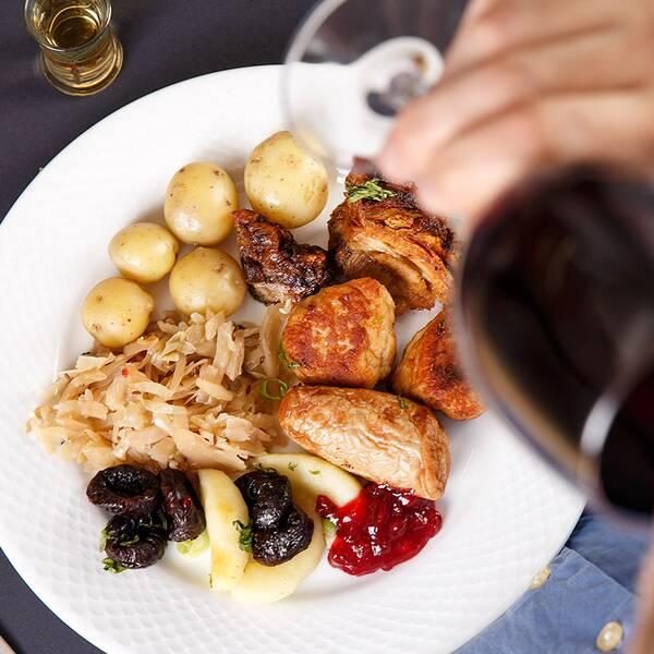 Spa, middag, vin