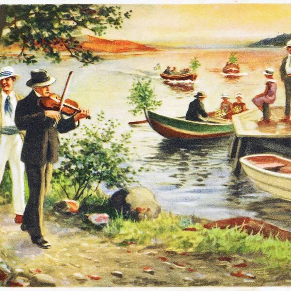 """Motivet anses anspela på en """"drömsk sommarkänsla"""" enligt Systembolaget. Att det syns personer i roddbåtar anses porträttera en """"riskfylld situation"""" där alkohol inte ska ingå."""