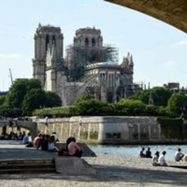 Katedralen Notre-Dame i Paris den 31 maj 2019.