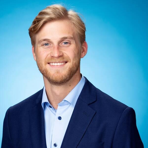 SVT:s meteorolog Mikael Sjöstrand.