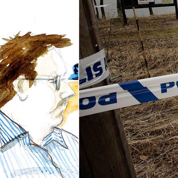 Anders Eklund, polisavspärrning i sökandet efter Engla