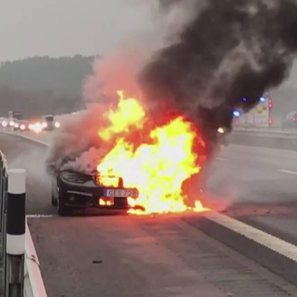Hör Krister berätta om mardrömsfärden på motorvägen
