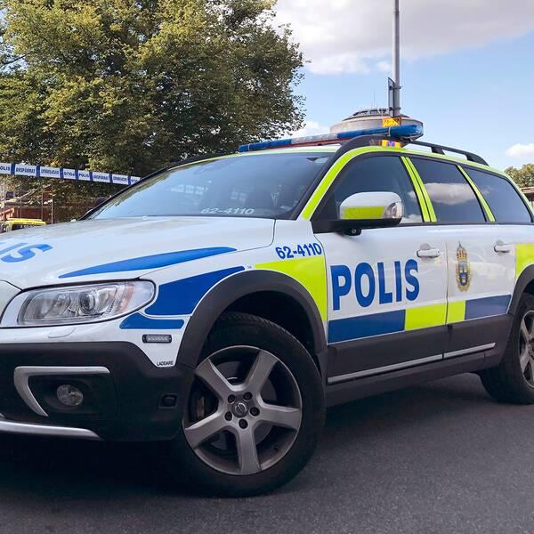 Delar av kvarteret spärrades av efter våldsdådet i Kristianstad.