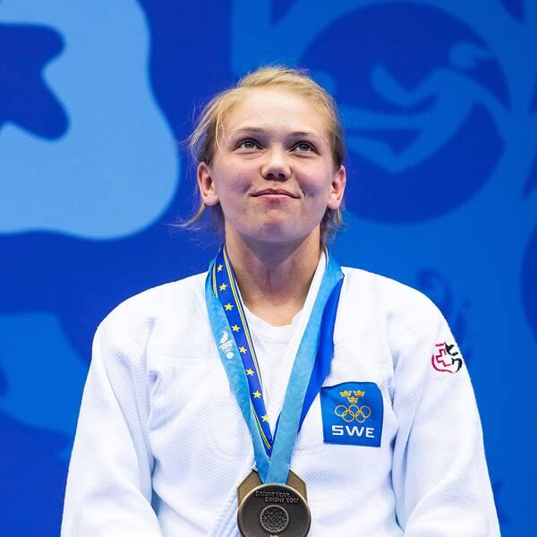 Anna Bernholm med bronsmedalj på European Games 23 juni i Minsk.