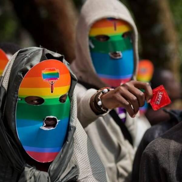 Hbtq-aktivister i Kenya demonstrerar för sina rättigheter.