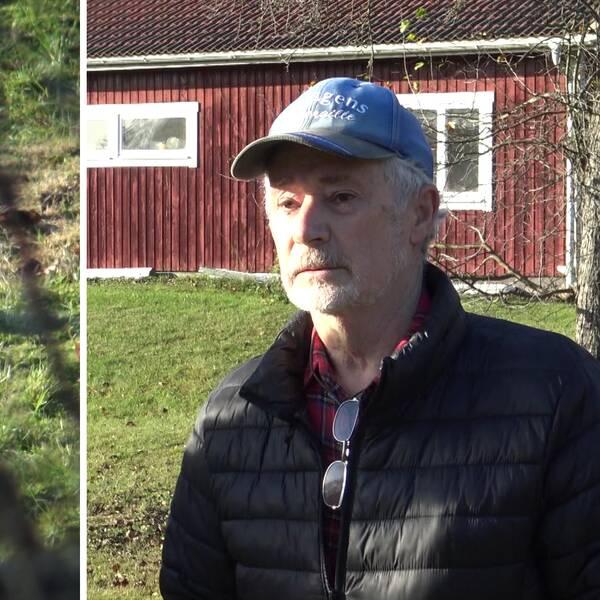 Per berättar för SVT om morgonen när han hittade en död man på sin tomt.